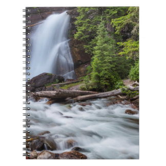Baring Falls in Glacier National Park, Montana Spiral Notebook