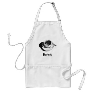 BARISTA APRON: PENCIL DRAWING, COFFEE CUP STANDARD APRON