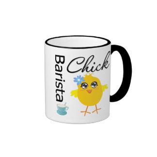 Barista Chick Ringer Mug