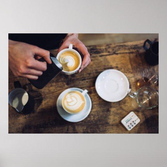 Barista Coffee Image Poster
