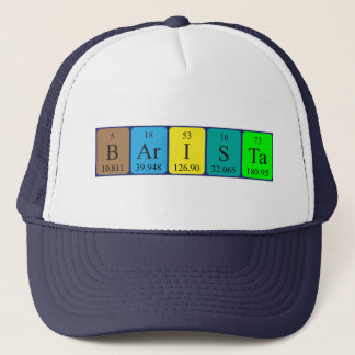 Barista periodic table name hat