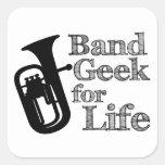Baritone Band Geek Square Sticker