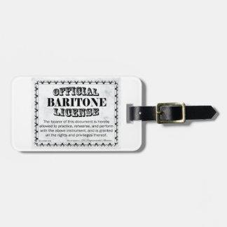 Baritone License Bag Tag