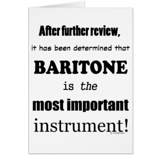 Baritone Most Important Instrument Card