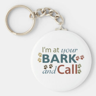 bark-and-call basic round button key ring