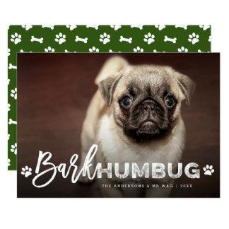 Bark Humbug Brush Dog Lover Holiday Photo Card 13 Cm X 18 Cm Invitation Card
