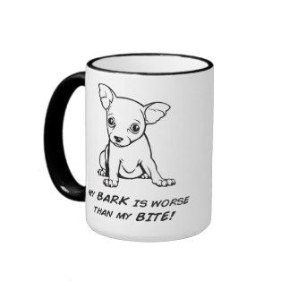Bark is worse than bite mug