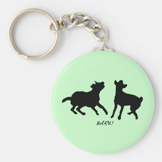 Bark, live, laugh basic round button key ring