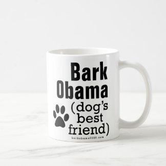 Bark Obama (dog's best friend) Basic White Mug