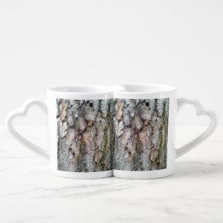 bark of Scots pine Lovers Mug Set