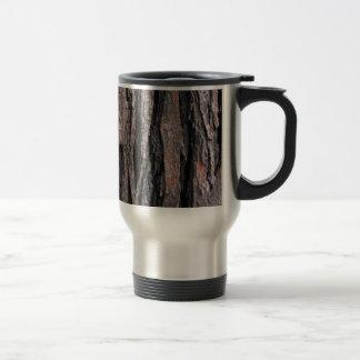 Bark Pattern Stainless Steel Travel Mug