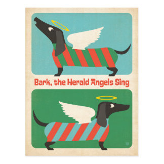 Bark the Herald Angels Postcard