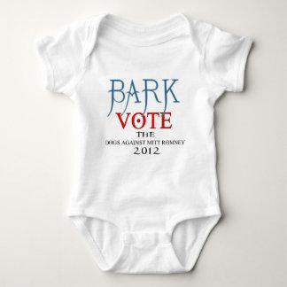 Bark Vote The Dogs Against Mitt Romney 2012.png Baby Bodysuit
