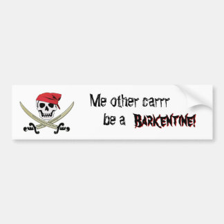 Barkentine Pirate Ship Bumper Sticker