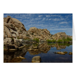 Barker Dam Reflection at Joshua Tree National Park Greeting Card