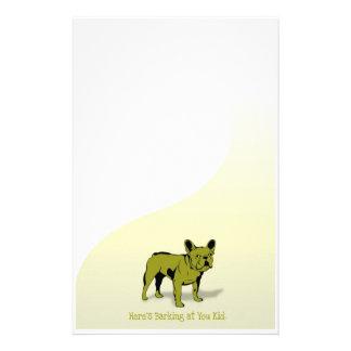 Barking at You French Bulldog Stationary Stationery