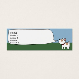 Barking Dog - Skinny Mini Business Card