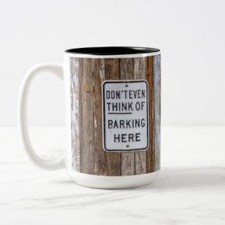 Barking Sign Mug
