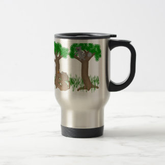 barking up the wrong tree stainless steel travel mug