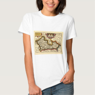 """Barkshire"" Berkshire County Map, England Tshirt"
