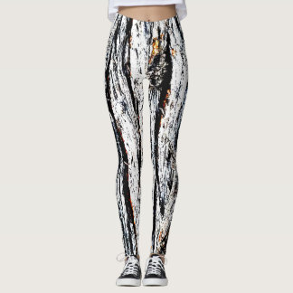 Barktastic Firey Texture Patterned Leggings