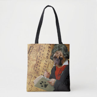 Barkthoven - the Beethoven pug Tote Bag