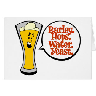 Barley Hops Water Yeast Cards