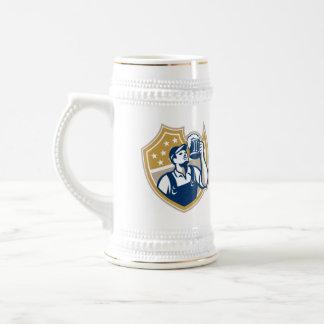 Barman Bartender Beer Mug Retro