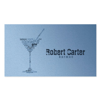 Barman Cocktail Bar Pub Club Glass Martini Card Pack Of Standard Business Cards