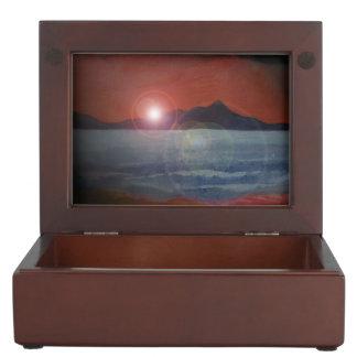 Barmouth beach keepsake box