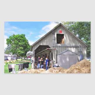 Barn 62 at Horse Haven - Saratoga Rectangular Stickers