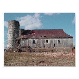 barn and silo 2 print