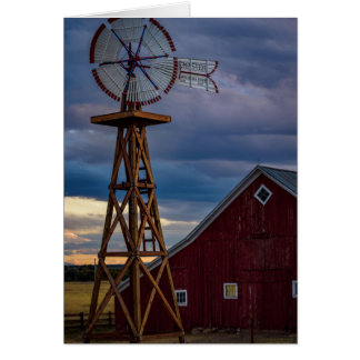 Barn and Windmill Card