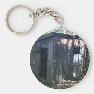 Barn Annex Shed Basic Round Button Key Ring