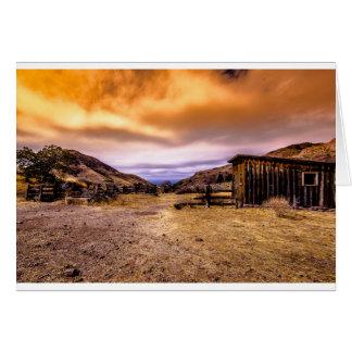 Barn at Twilight Card