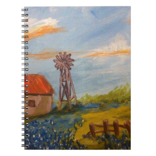 Barn & Bluebonnets Spiral Notebook