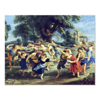 Barn Dance By Rubens Peter Paul (Best Quality) Card