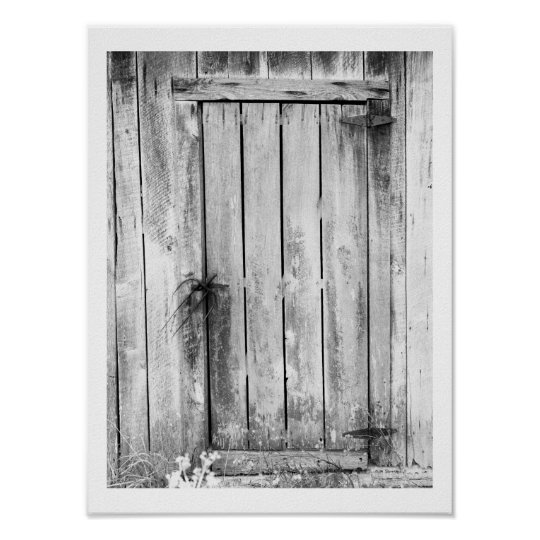 Barn Door Lock Poster
