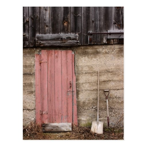 Barn Door Postcard
