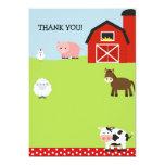 Barn Farm Barnyard Thank You Notes 13 Cm X 18 Cm Invitation Card