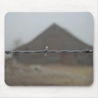 barn frosted barbwire mouse pad