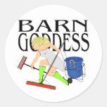 Barn Goddess Round Sticker