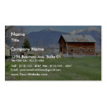 Barn Grass Mountains Fence Business Card