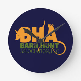 Barn Hunt Association LLC Logo Gear Round Clock
