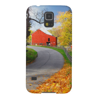 Barn in Fall Cases For Galaxy S5