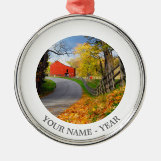 Barn in Fall Christmas Ornament