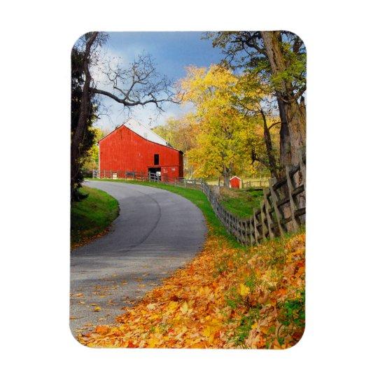 Barn in Fall Rectangular Photo Magnet