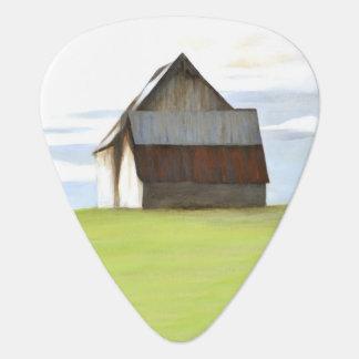 Barn in Field Guitar Pick