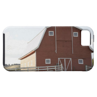 Barn in rural landscape iPhone 5 cases