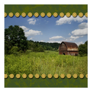 Barn in the Countryside Poster